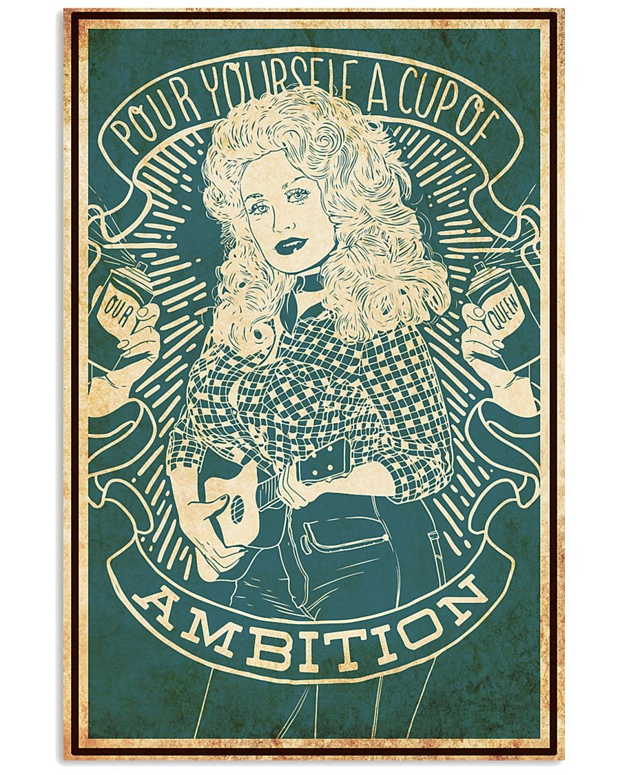 cup of ambition dolly parton poster