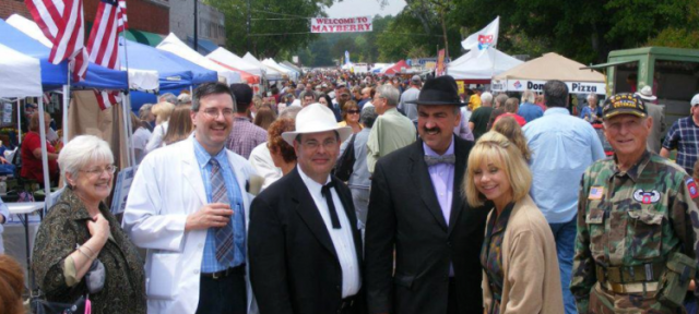 Some of the faces in the crowd at the Westminster festival in 2012.