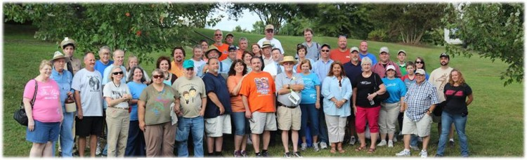 "Members of ""WBMUTBB?"" chapter gathered at Mayberry Days.  Photo by Jan Newsome."