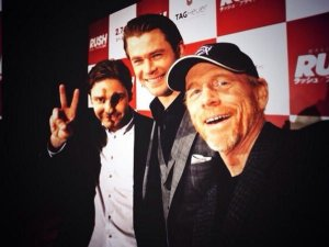 Ron Howard tweeted this selfie with actors Daniel Brühl (left) and Chris Hemsworth when they were in Japan in January promoting the release of Rush.
