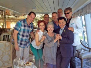 Jackie Joseph, front and center on the Doris Day cruise. You can follow the links here to her enthusiastic account.
