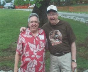 THE GRIN CROWD--Rodney Dillard and Gary Matthews in Morristown, Tenn. Photo courtesy of Gary Matthews.