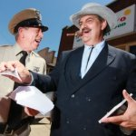 Keith Brown (left) with David Browning at Mayberry Comes to Westminster in 2014.