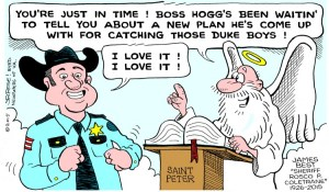 "Courtesy of TAGSRWC member John Rose, who also draws comic strip ""Barney Google and Snuffy Smith."""