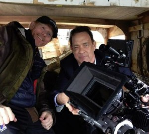 CANAL ROUTE--Ron Howard tweeted this with Tom Hanks on the first day of filming Inferno on the canals of Venice. Follow Ron's further adventures on Twitter @RealRonHoward.
