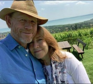 TWEET HEARTS--Ron tweeted this photo of himself with wife Cheryl while celebrating their 40th anniversary earlier this month in Budapest. Follow Ron on Twitter @RealRonHoward.