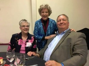 Margarett Kerry (center) with attendees at a Cherry Blossom Festival luncheon in April.