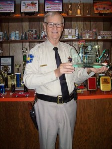 SWANKY SCHWENKE WINNER--Ken Anderson couldn't be at Mayberry Days, but he sent this photo for us after he received his Jim Schwenke Memorial Award in the mail.