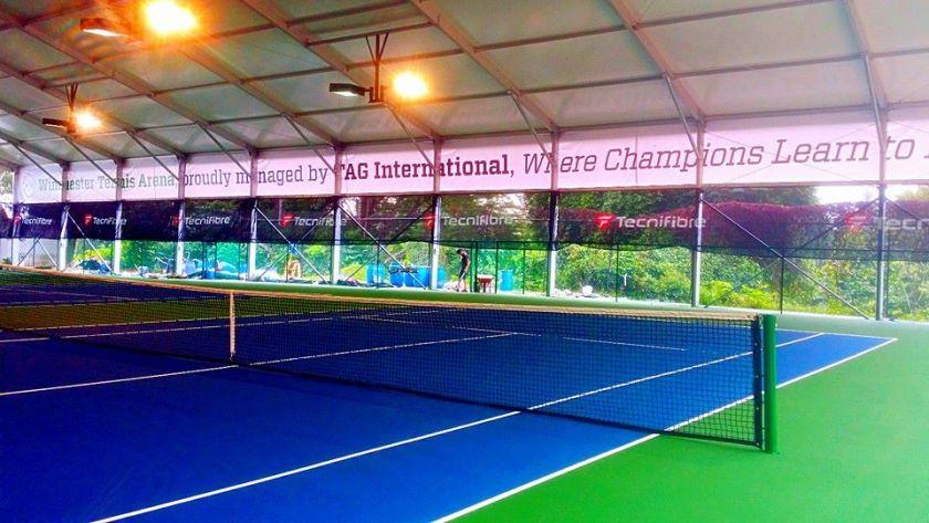 Winchester Tennis Arena 4 Shelter Tennis Court
