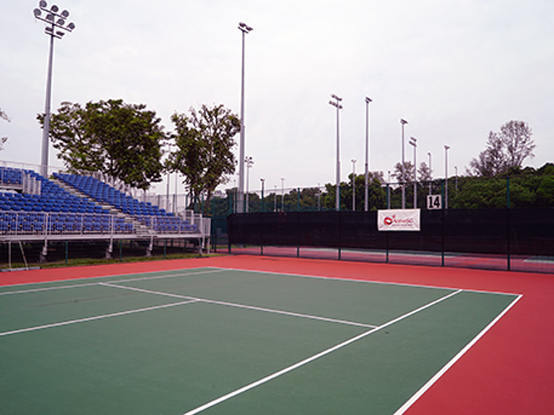 ActiveSG Kallang Tennis Centre - 14 outdoor public tennis courts for your tennis game or your private tennis lessons in Singapore by TAG International Tennis Academy