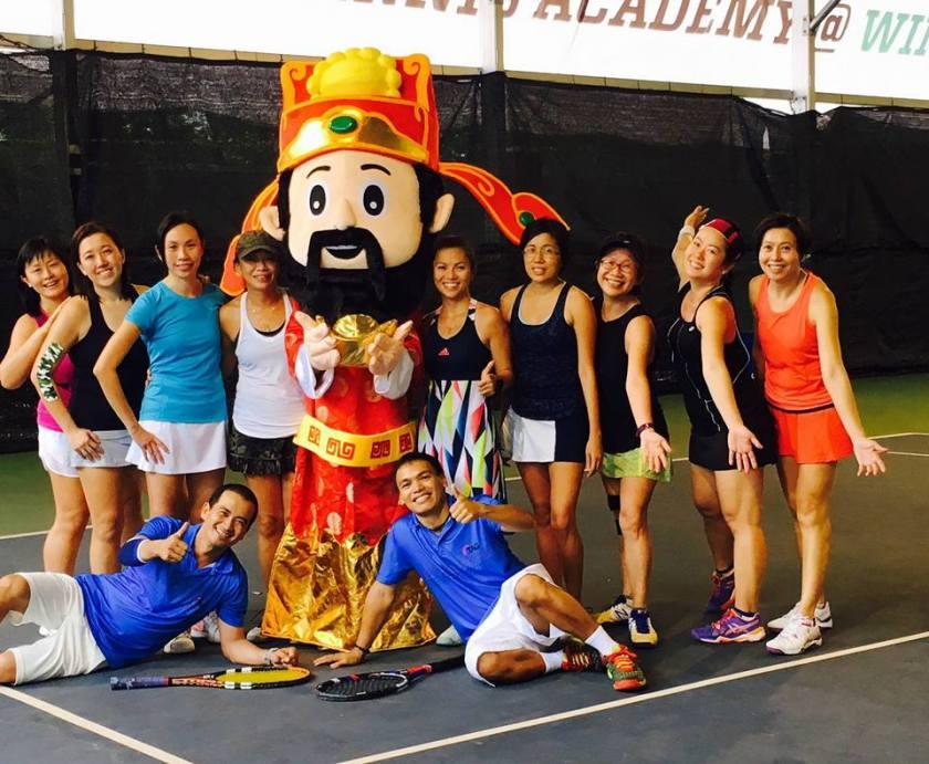 Ladies Tennis Singapore: Team Training at Singapore's Top Tennis Academy, TAG International Tennis Academy @ Winchester Tennis Arena