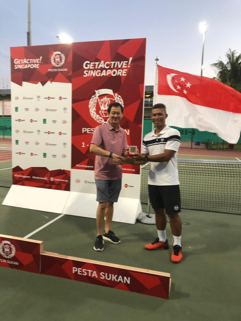 TAG International Tennis Coach Peter Egos Wins Men's 35 Singles Title at the Singapore National Games Tennis Tournament 2019.