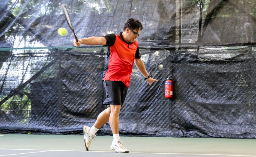 Coach Bo Alburo plays a style of All Court Tennis