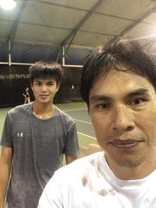 Coach Bo Alburo Lourelu Adlawan Mari with Jordan Ng
