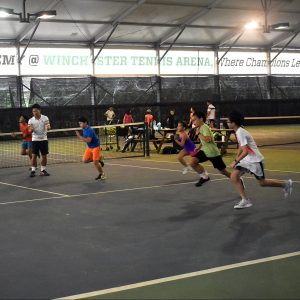 Coach Rocky's junior group lesson at Winchester Tennis Arena
