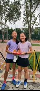 Coach Xt wining tennis competition