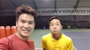 Matthias Wong - top Singapore tennis junior of Coach Xt