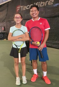 TAG Tennis Academy Coach Dave and TAG Junior Student Gaby