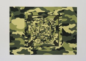 Mischa Rakier, Camo Structure (Three Open Cubes)