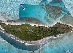 Google Earth of kite aerial photos Petite Tabac