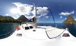 The Pitons 360 Panorama