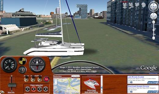 Tahina in Ships simulator