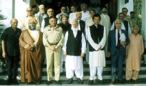 General Pervez Musharraf with Imran Khan and Mullahs