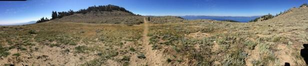 Crossroads ahead...Snow Valley Peak on left
