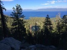 Granite Lake and Lake Tahoe from Maggie's Peak