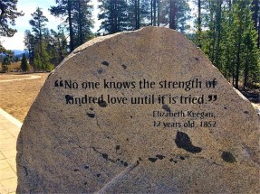 Inscription at Donner Memorial State Park