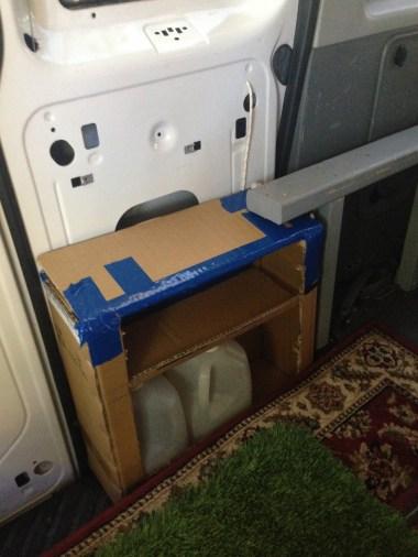 I started with cardboard mock ups