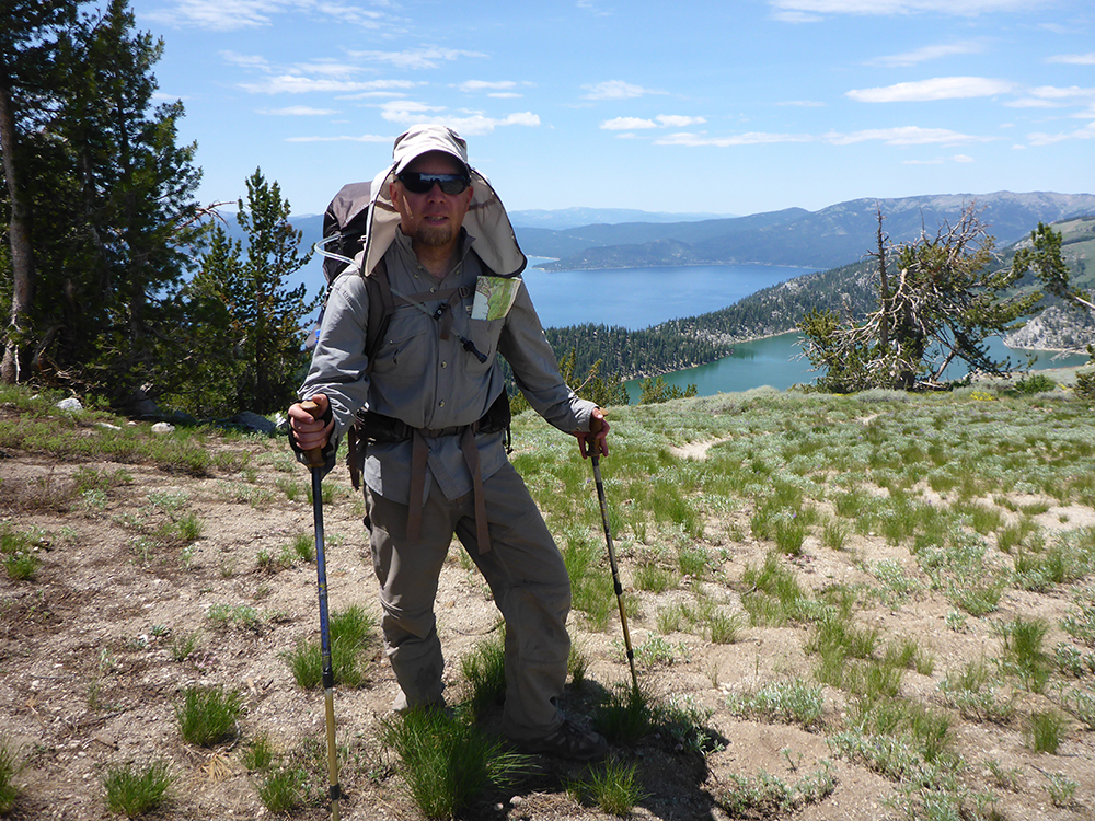 45-Marlette Lake and Lake Tahoe in the Background
