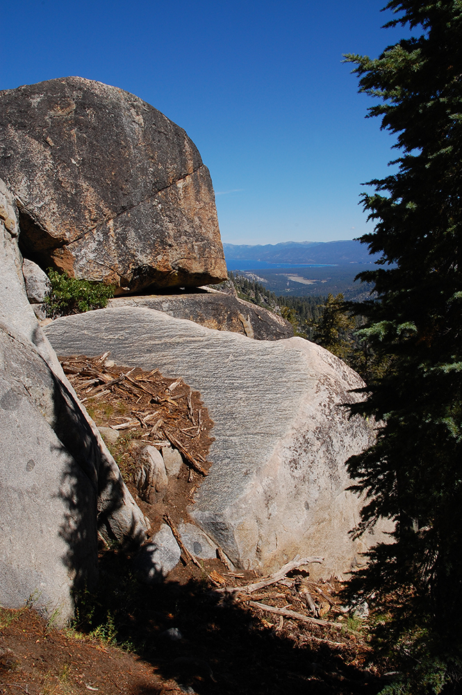 78-Granite Boulders and a View of Lake Tahoe
