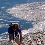 Mathew Climbing Up Hill 9,686. © Jared Manninen