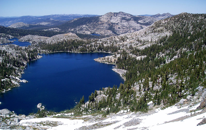 Dicks Lake as Viewed from Dicks Pass