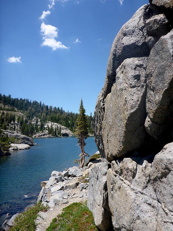 11 - Granite Boulder Sunbathing at Fontanillis Lake