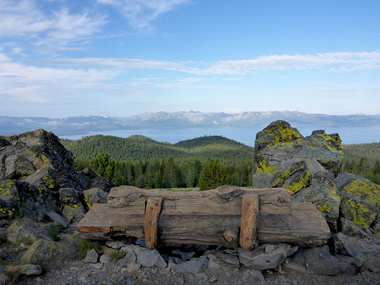 54 - Wooden Bench Near South Camp Peak