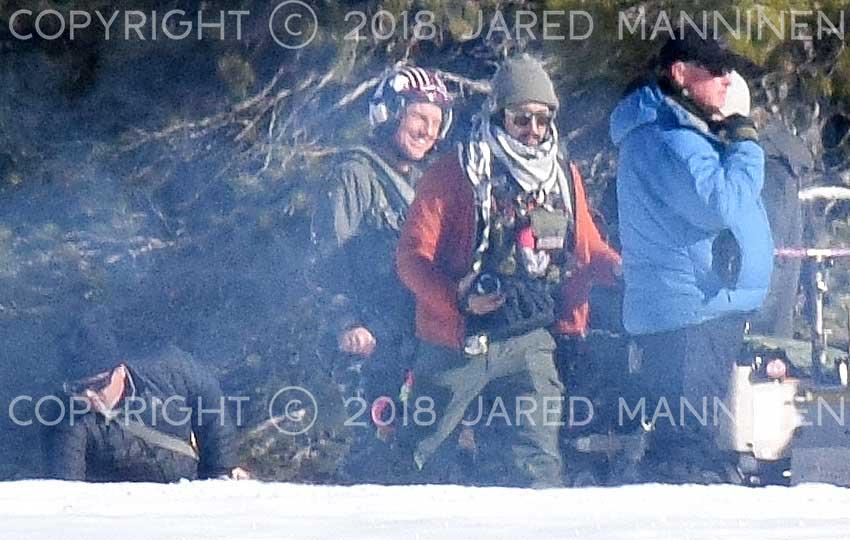Tom Cruise smiling while filming Top Gun: Maverick