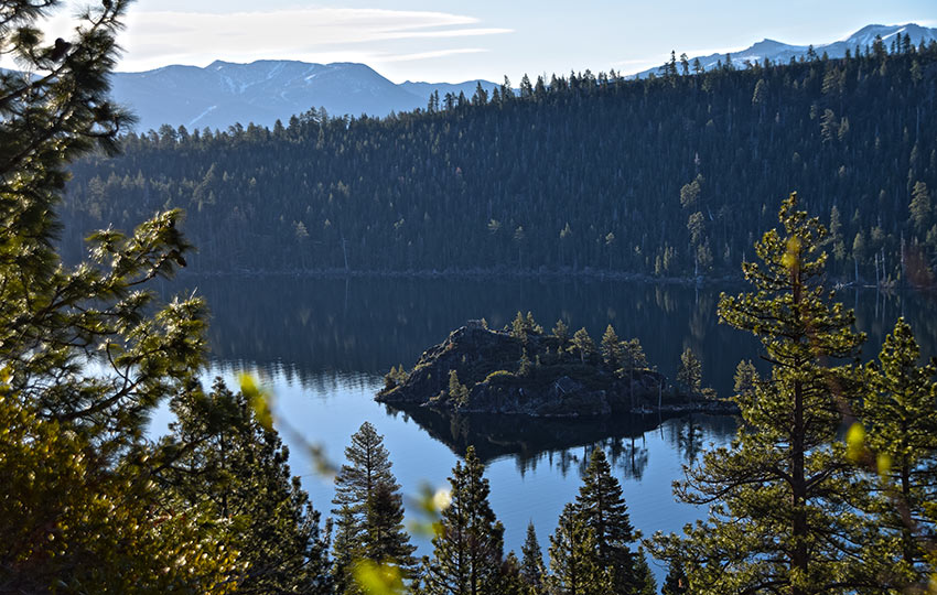 Hiking Emerald Point affords you views of Emerald Bay and Fannette Island