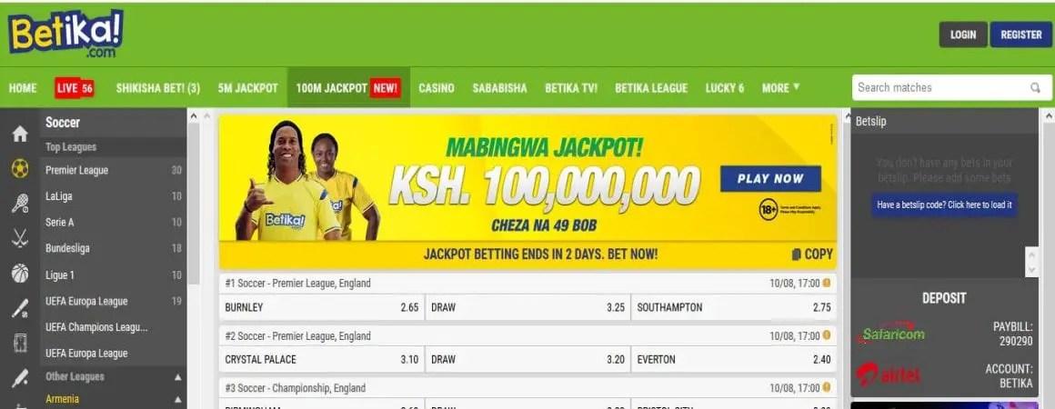 Betika Mabingwa Jackpot Predictions