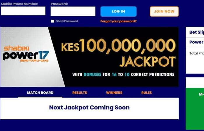 Shabiki Power 17 Jackpot Results, Bonuses and Jackpot Winners