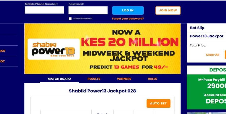 30th & 1st November,December 2019 Shabiki Power 13 Weekend Jackpot Predictions
