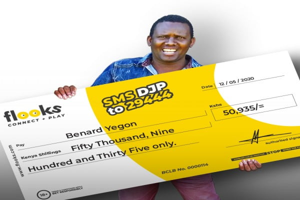 A lucky Punter from Bomet Wins KES 50,935 With Flooks Betting Company