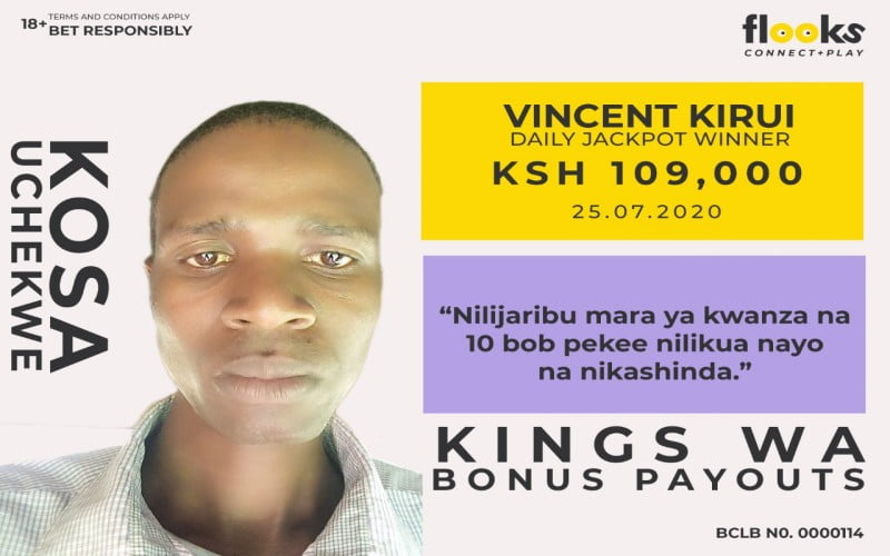 A Bomet Man Smiles Away With Ksh 109,000 Daily Jackpot From Flooks Betting Company
