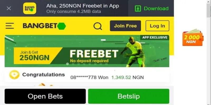 BangBet Nigeria Registration, Deposit, App, Jackpot, Bonus and Contacts