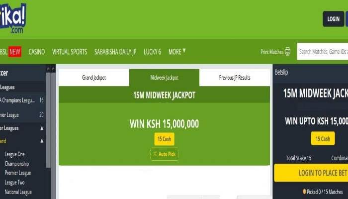2nd August 2020 Betika Midweek Jackpot Predictions