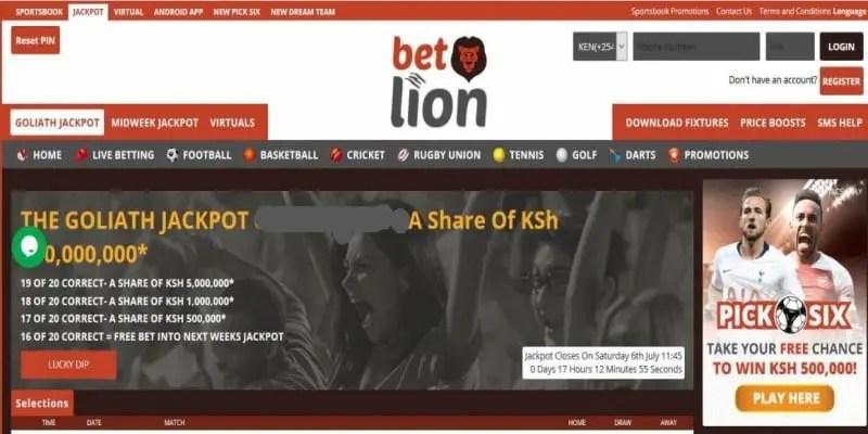 Betlion Goliath Jackpot Predictions
