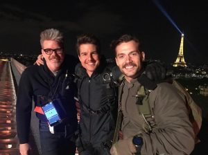 Henry Cavill and Tom Cruise on Mission: Impossible 6 set