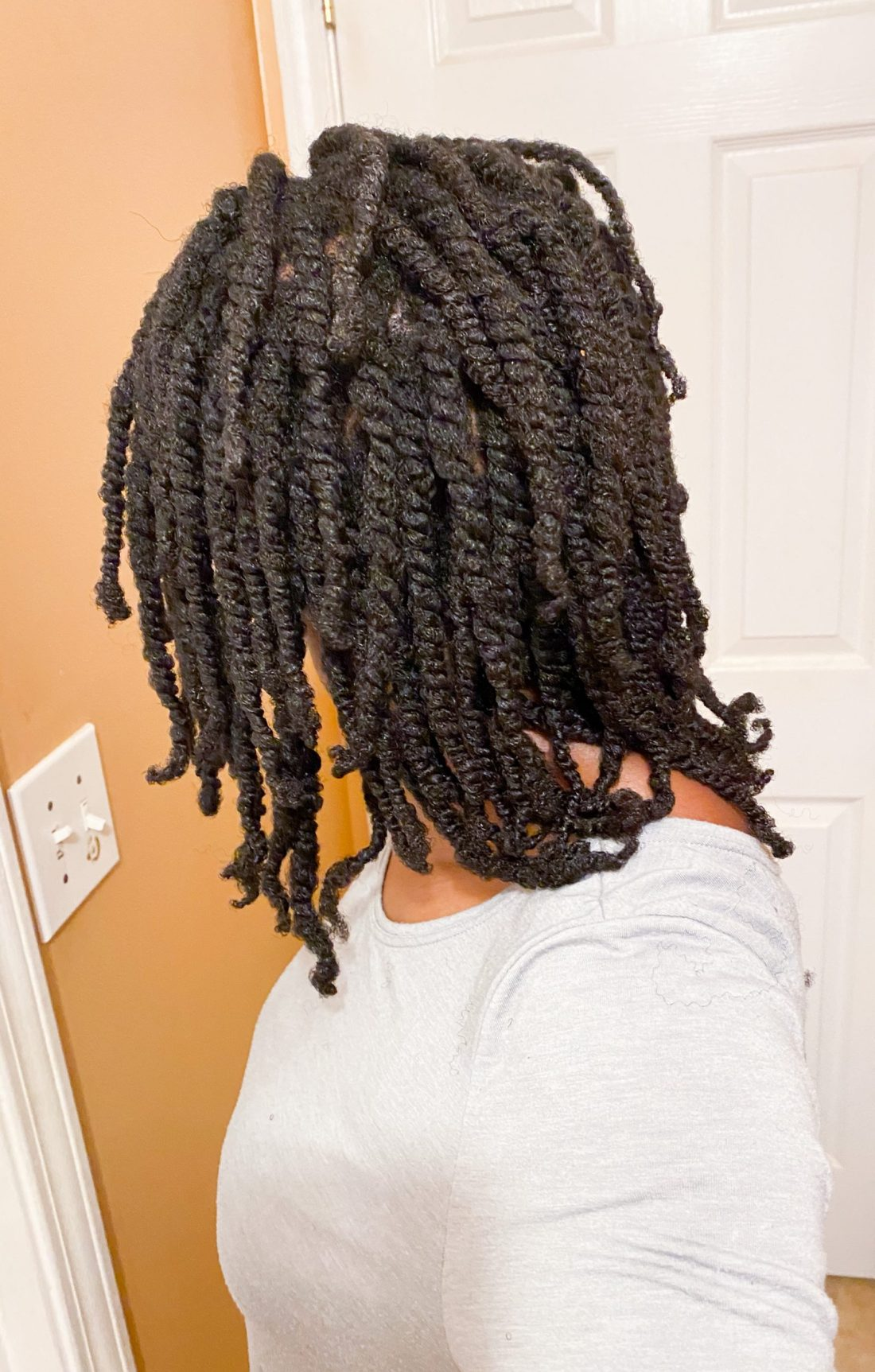 two strand twists on 4c hair
