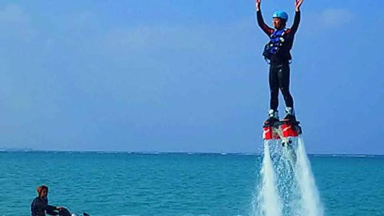 フライボード、セブ島の観光マリンスポーツ